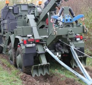 HPC KMW Bergefahrzeug 10 Spatenabstützung